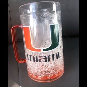 University of Miami freezer mug